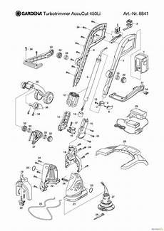Gardena Ersatzteile Rasentrimmer - gardena trimmer turbotrimmer accucut 450 li ersatzteile