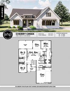 one story farmhouse house plans cherry creek 1 story modern farmhouse house plan new