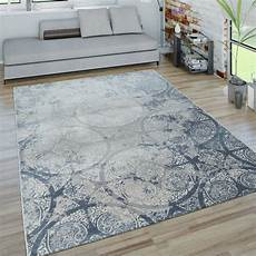 teppich blau grau kurzflor teppich ornamente blau grau teppich de