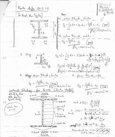 statisches moment bestimmen doppelt tr 228 ger mechanik ii