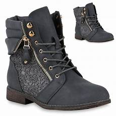 damen stiefeletten boots schn 252 rstiefel spitze used look