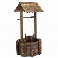 Wood Decorations Outdoor by Wooden Wishing Well Flower Planter Patio Garden