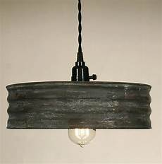 vintage rustic primitive industrial sifter pendant light l textured gray ebay