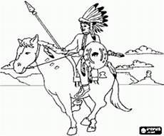 Ausmalbild Indianer Pferd Ausmalbilder Indianer Malvorlagen 2