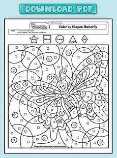 color by number worksheets butterfly 16083 and interactive preschool worksheets