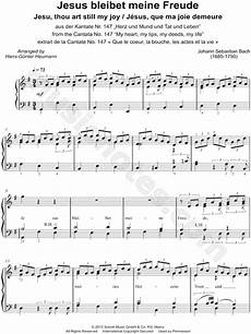 johann sebastian bach quot jesu joy of man s desiring quot sheet music piano solo in g major