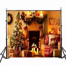 5x7ft Vinyl Tree Light Wood by 5x7ft Vinyl Warm Light Tree Fireplace