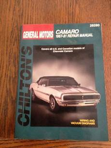 hayes auto repair manual 1998 chevrolet g series 1500 seat position control purchase chevrolet camaro 1967 81 chilton total car care series manuals motorcycle in saint