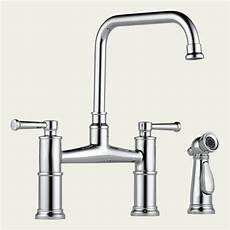 kitchen bridge faucets 62525lf brizo two handle bridge kitchen faucet with spray 62525lf focal point hardware
