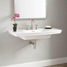 olney porcelain wall sink bathroom