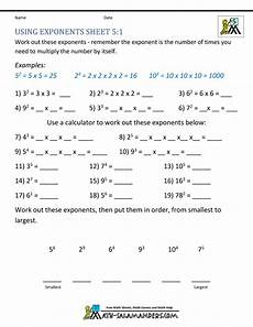 math worksheets 5th grade exponents and parentheses
