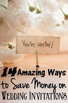 Save Money On Wedding Invitations cheap wedding invitations 14 ways to save money on