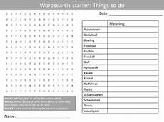 free german worksheets ks3 19670 german freetime activities ks3 gcse starter activities wordsearch anagrams alphabet crossword