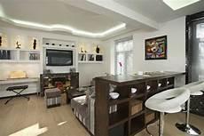 Kleines Wohnzimmer Essbereich Modern Led Streifen Decke