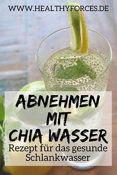 chia wasser zum abnehmen einfaches rezept mit zitrone