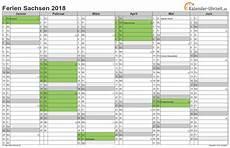 Sachsen Sommerferien 2019 - ferien sachsen 2018 ferienkalender zum ausdrucken