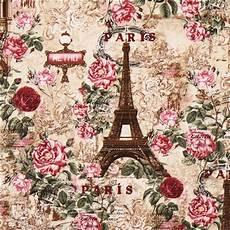 beiger paris eiffelturm rosen vintage stoff timeless