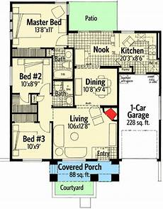 southwest house plans with courtyard plan 12538rs petite southwest house plan southwest