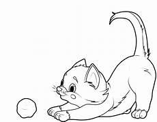 ausmalbild katzen katze mit wollkn 228 uel kostenlos ausdrucken