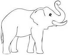 Einfache Malvorlage Elefant Elefant Ausmalbild 1ausmalbilder Elefant