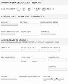 motor vehicle accident report form template jotform