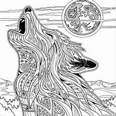 ausmalbilder tiere erwachsene wolf