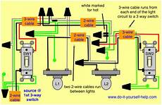3 way and 4 way wiring diagrams with multiple lights do it yourself help com