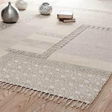 tappeti maison du monde tappeto beige in cotone a pelo corto 160 x 230 cm menara