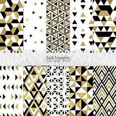 Papiers Num 233 Riques F 234 Te Motifs Triangles Or Blanc Noir