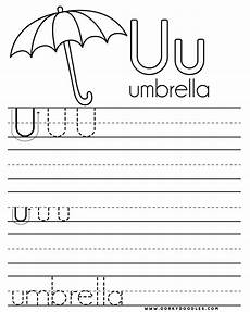 letter u worksheets free letter u writing practice and coloring page dorky doodles