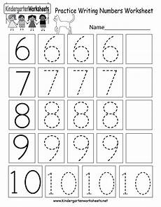 practice writing numbers worksheet free kindergarten math worksheet for kids