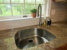 Faucet Placement by The Big Reveal Kitchen Remodel Is Complete Rental