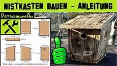 nistkasten bauen bauanleitung vogelhaus bauen