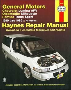 car repair manuals download 1993 oldsmobile silhouette spare parts catalogs lumina apv silhouette trans sport 1990 1996 repair manual