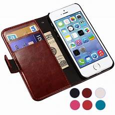 luxury flip leather for apple iphone 5 5s se iphone5