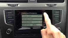 vw golf 7 radio composition touch alle funktionen