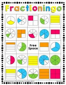 fraction bingo worksheets 3859 fractions bingo de fracciones fracciones material didactico primaria