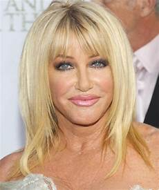 suzanne somers long straight formal hairstyle