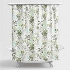 shower curtains with green aqua and green underwater floral valeda shower curtain