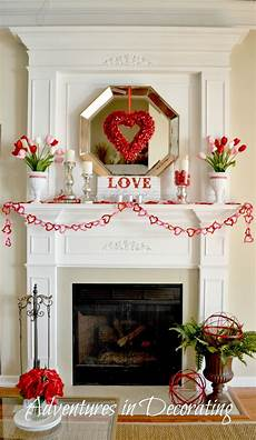 Decorating Ideas For Valentines Day by Adventures In Decorating Our Mantel
