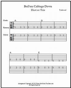 Beginner Guitar Song And Fiddle Song Boil Em Cabbage