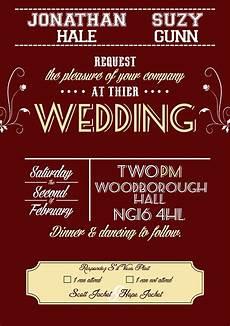 1950s Wedding Invitations