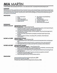 administrative assistant resume should be well noticed if