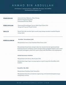 contoh resume akademik 1 kerja kosong kerajaan