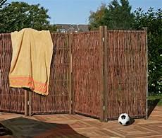 paravent für terrasse weiden paravent ca 240 x 140 cm dekorativer sichtschutz