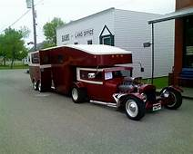 It Had To Be Done Street Rod With 5th Wheel Trailer