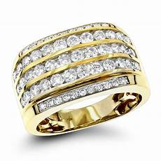 10k gold diamond mens ring 2 25ct unique diamond wedding band