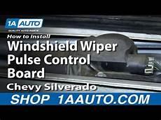 auto manual repair 2009 gmc sierra windshield wipe control gm wiper motor repair