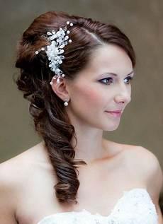 Brautfrisuren Lange Haare Seitlich