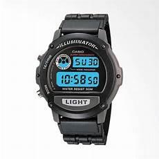 jual casio w 87h 1vhdr digital illuminator jam tangan unisex hitam online harga kualitas